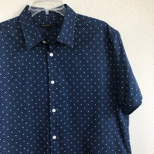 John Varvatos USA Short Sleeve Star Button Shirt M